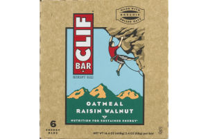 Clif Bar Energy Bar Oatmeal Raisin Walnut - 6 CT