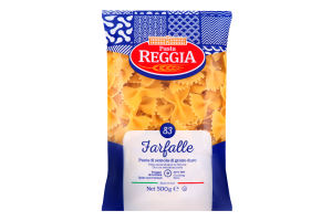 Макаронные изделия Farfalle 83 Pasta Reggia м/у 500г