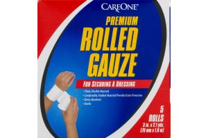 CareOne Premium Rolled Gauze - 5 CT