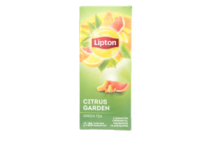 Чай зеленый с ароматом грейпфрута, апельсина и мандарина Сitrus Garden Lipton к/у 25х1.4г