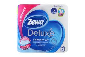 Бумага туалетная 3-х слойная Deluxe Zewa 4шт