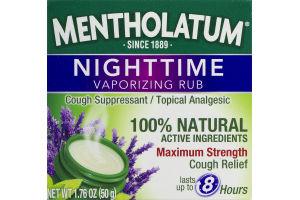 Mentholatum Nighttime Vaporizing Rub Maximum Strength