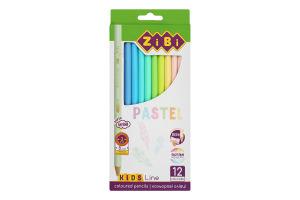 Олівці кольорові №ZB.2470 Kids Line Pastel Colors ZiBi 12шт