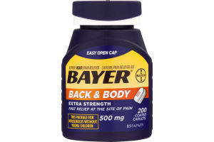 Bayer Aspirin Back & Body Extra Strength - 200 CT