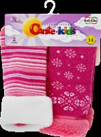 CONTE-KIDS SOF-TIKI Шкарпетки дитячі (2 пари) р.14 703 білий-рожевий