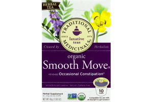 Traditional Medicinals Laxative Teas Organic Smooth Move K-Cups - 10 CT