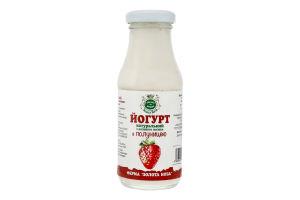 Кефир из козьего молока с клубникой Золота Коза с/бут 175г