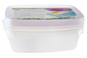 Набор пищевых контейнеров прямоугольных №82613 Пластторг 3шт
