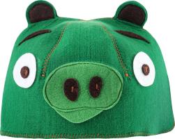 Шляпа для сауны искусственный фетр №А-257 Свинка Шелтер груп 1шт