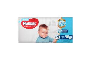 Подгузники для мальчиков 4 (8-14кг) Ultra Comfort Huggies 100шт