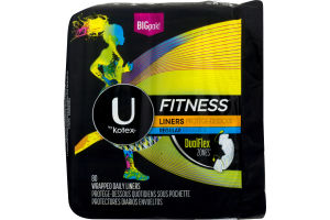 U By Kotex Fitness Daily Liners Regular - 80 CT