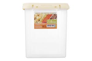 Ємність для сипучих продуктів 1.6л 195×145×90мм Krion 1шт