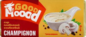 Сир плавлений 40% скибковий Champignon Good Moood м/у 64г