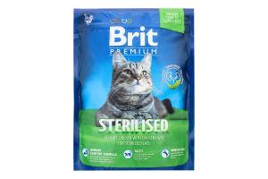 Корм Brit Premium д/стерилізованих котів сухий 300г