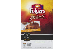 Folgers Gourmet Selections Coffee K Cups Caramel Drizzle - 12 CT