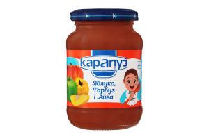 Пюре для детей от 4мес из яблок, тыквы и айвы Румяные щечки Карапуз с/б 200г