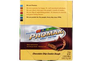 Promax Gluten-Free Energy Bar Chocolate Chip Cookie Dough - 12 CT