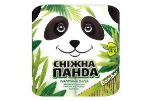 Папір туалетний 150 листів 2 шари Bamboo Сніжна панда 4шт