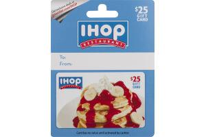 IHOP Restaurant Gift Card $25