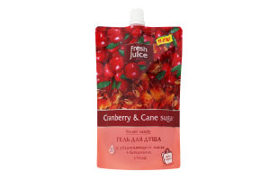 Гель для душа Cranberry&Cane sugar Sweet candy Fresh Juice 170мл