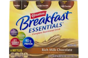 Carnation Breakfast Essentials Complete Nutrtional Drink Rich Milk Chocolate - 6 CT