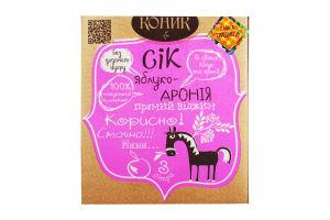 Сок яблоко-арония неосветленный пастеризованный Коник Лавка традиций к/у 3л