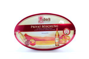 Цукерки Asbach Privat-Mischuhg асорті з коньяком з/к 180гх6