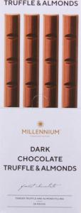 Шоколад чорний з начинкою Truffle&Almonds Millennium м/у 38г