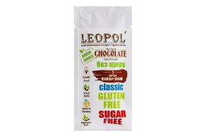 Шоколад без сахара Черный Green series Leopol' м/у 25г