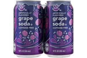 Ahold Caffeine Free Grape Soda - 4 PK