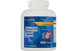 CareOne Children's Chewable Animal Shapes Dietary Supplement Tablets - 300 CT