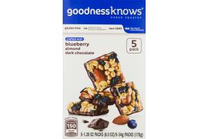 GoodnessKnows Snack Squares Blueberry Almond Dark Chocolate - 5 PK