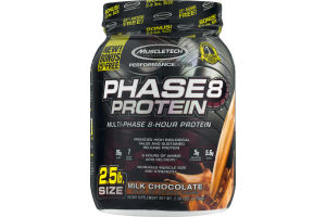 MuscleTech Performance Series Phase 8 Protein Dietary Supplement Milk Chocolate