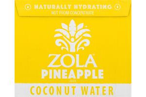 Zola Coconut Water Pineapple Juice - 12 CT