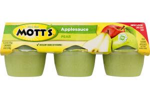 Mott's Applesauce Pear - 6 CT