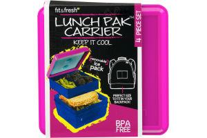 Fit & Fresh Lunch Pak Carrier 4 Piece Set