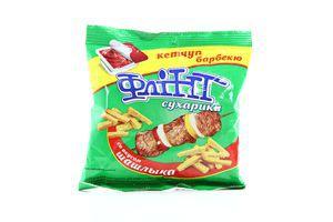 Сухарики с кетчупом со вкусом шашлыка Flint м/у 70г
