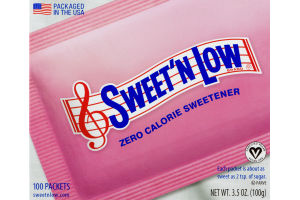 Sweet'N Low Zero Calorie Sweetener - 100 PK