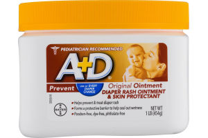A+D Original Ointment Diaper Rash Ointment & Skin Protectant
