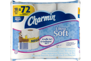 Charmin Toilet Paper Ultra Soft - 18 CT