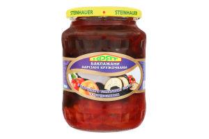 Баклажани нарізані кружечками з овочами в томатному соусі з чорносливом Крят с/б 680г