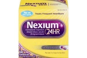 Nexium 24HR ClearMinis Delayed Release Heartburn Relief Capsules, Esomeprazole Magnesium Acid Reducer (20mg, 14 Count)
