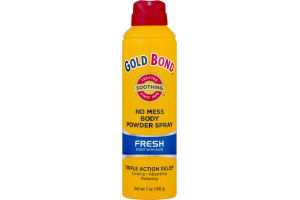 Gold Bond No Mess Body Powder Spray Fresh Scent with Aloe