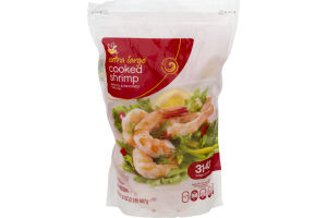 Ahold Extra Large Cooked Shrimp Peeled & Deveined Tail-On - 31-40 CT