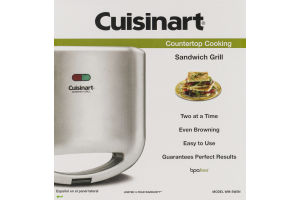 Cuisinart Countertop Cooking Sandwich Grill