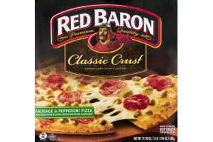 Red Baron Classic Crust Pizza Sausage & Pepperoni