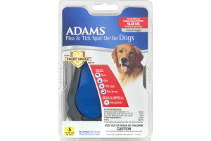 Adams Flea & Tick Spot On for Large Dogs/Puppies 56-80 LBS