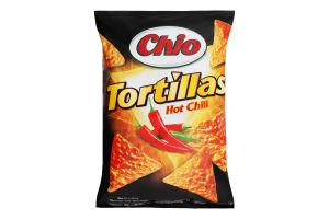 Чипсы кукурузные со вкусом перца Чили Tortillas Chio м/у 125г