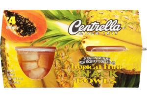 Centrella Tropical Fruit Snack Bowls - 4 CT