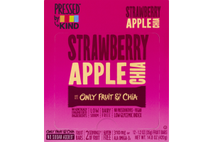 Pressed by KIND Fruit Bars Strawberry Apple Chia - 12 CT